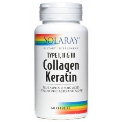 Collagen Keratin - 60 Capsulas Solaray