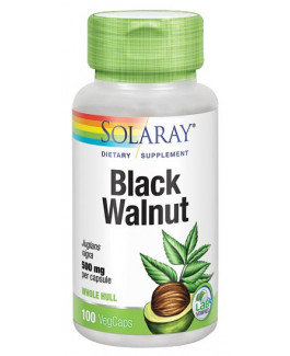 Black Walnut Hull (Nogal Negro) 500 mg- 100 Vegcaps Solaray