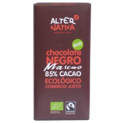 Chocolate 85% Cacao Mascao Alternativa 3 (80 Gr) Bio